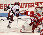 Bradley Fusco (Harvard - 9), Erin O'Neil (BU - 31) - The Harvard University Crimson tied the Boston University Terriers 6-6 on Monday, February 7, 2017, in the Beanpot consolation game at Matthews Arena in Boston, Massachusetts.