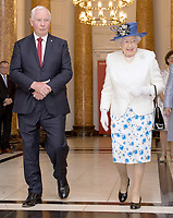 Queen Elizabeth II and Prince Philip visit to Canada House