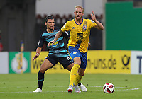 Karim Rekik, Philipp Hofmann /   /        /      <br /> / Sport / Football / DFB Pokal 1.round 3. Bundesliga Bundesliga /  2018/2019 / 20.08.2018 / BTSV Eintracht Braunschweig vs. Hertha BSC Berlin / DFL regulations prohibit any use of photographs as image sequences and/or quasi-video. /<br />       <br />    <br />  *** Local Caption *** &copy; pixathlon<br /> Contact: +49-40-22 63 02 60 , info@pixathlon.de