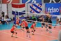 VOLLEYBAL: SNEEK: 12-11-2014, Sneker Sporthal, Europese wedstrijd om de Challenge Cup, uitslag 3-2, ©foto Martin de Jong