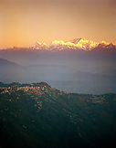 INDIA, West Bengal, Tiger Hill with Himalayan Mount Khangchendjunga in background