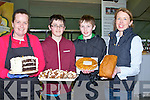 FOOD: Enjoying the delights of the food on display, at the Kingdom County Fair, at Ballybeggan Racecourse, on Sunday l-r: Terersa Foley (Heavenly Bakes),Tralee, Tadgh and David Moriarty (Killarney) and Tina O'Connell (causeway).