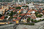 Cartagena old quarter, Cartagena de Indias, Bolivar Department, Colombia, South America.