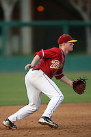 March 7 2010: Adam Landecker of USC during game against University of New Mexico at Dedeaux Field in Los Angeles,CA.  Photo by Larry Goren/Four Seam Images