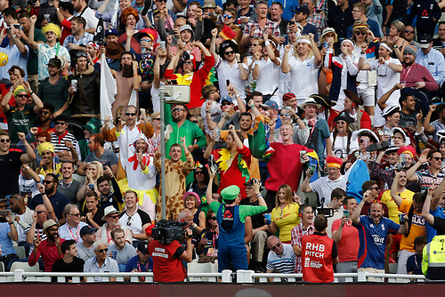 2nd September 2017, Edgbaston, Birmingham, England; Natwest T20 Blast Finals Day, Notts Outlaws versus Hampshire; Fans, many in fancy dress, enjoy the second semi final match today