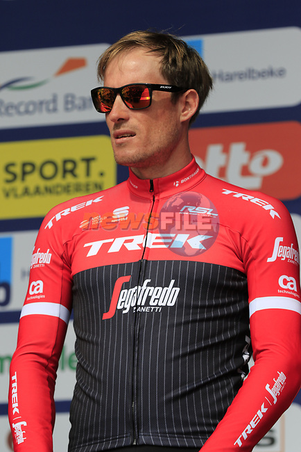 Gregory Rast (SUI) Trek-Segafredo team presented to the crowd before the start of the 60th edition of the Record Bank E3 Harelbeke 2017, Flanders, Belgium. 24th March 2017.<br /> Picture: Eoin Clarke | Cyclefile<br /> <br /> <br /> All photos usage must carry mandatory copyright credit (&copy; Cyclefile | Eoin Clarke)