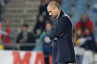 26.11.2011 La Liga. Spain, Coliseum Alfonso Perez stadium Getafe vs Barcelona. Picture show Pep Guardiola coach of FC Barcelona