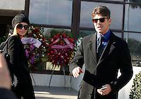 Cristina Chiabotto e Fabio Fulco  partecipa ai funerali  di  Pino Daniele al santuario del divino amore di Roma