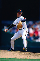 SAN FRANCISCO, CA - Bill Swift of the San Francisco Giants pitches during a game in 1994 at Candlestick Park in San Francisco, California. (Photo by Brad Mangin)