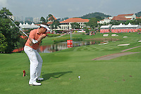 Jeff Overton (USA) on the 14th tee during Round 3 of the CIMB Classic in the Kuala Lumpur Golf & Country Club on Saturday 1st November 2014.<br /> Picture:  Thos Caffrey / www.golffile.ie