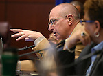 Nevada Sen. Joe Hardy, R-Boulder City, works in a committee hearing at the Legislative Building in Carson City, Nev., on Thursday, Feb. 12, 2015. <br /> Photo by Cathleen Allison
