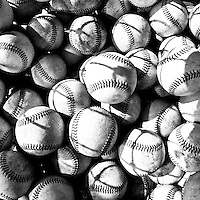 21 August 2010: Illustration of balls in a batting basket prior to Russia 13-1 win in 7 innings over France, at the 2010 European Championship, under 21, in Brno, Czech Republic.
