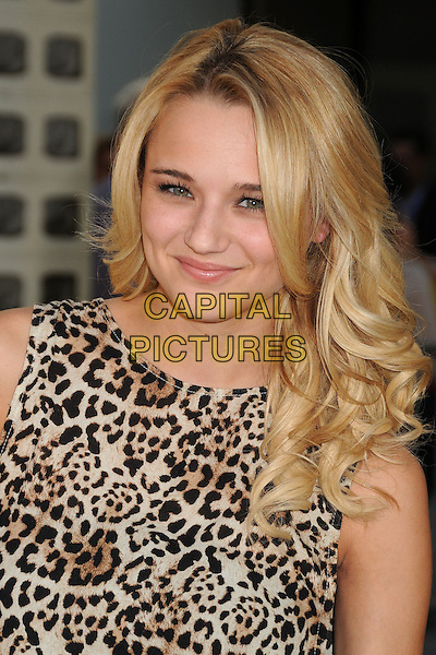 Hunter King<br /> &quot;The Conjuring&quot; Los Angeles Premiere held at the Cinerama Dome, Hollywood, California, USA.<br /> July 15th, 2013<br /> headshot portrait leopard print top <br /> CAP/ADM/BP<br /> &copy;Byron Purvis/AdMedia/Capital Pictures