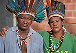 Augusto Miranha (left) and Pedro Mura are leaders of the Nacoes Indigenas neighborhood in Manaus, Brazil. The neighborhood is home to members of more than a dozen indigenous groups, many of whose members have migrated to the city in recent years from their homes in the Amazon forest.