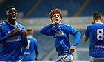16.11.2019 Rangers Colts v Wrexham: Nathan Young-Coombes celebrates his goal