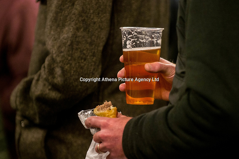 Beer and a pie <br /> Re: Behind the Scenes Photographs at the Liberty Stadium ahead of and during the Premier League match between Swansea City and Bournemouth at the Liberty Stadium, Swansea, Wales, UK. Saturday 25 November 2017