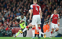 Jhon Cordoba of FC Koln scores the opening goal  during the UEFA Europa League match between Arsenal and FC Koln at the Emirates Stadium, London, England on 14 September 2017. Photo by Andrew Aleks.