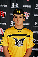 Edward Alfaro during the Under Armour All-America Tournament powered by Baseball Factory on January 17, 2020 at Sloan Park in Mesa, Arizona.  (Mike Janes/Four Seam Images)