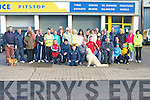 WALKING THE WALK: The very large group of people who took part in the sponsored walk in aid of the Parkinson's Association for North and South Kerry who gathered before the off at Advance Pitstop, Quill Street on Sunday.