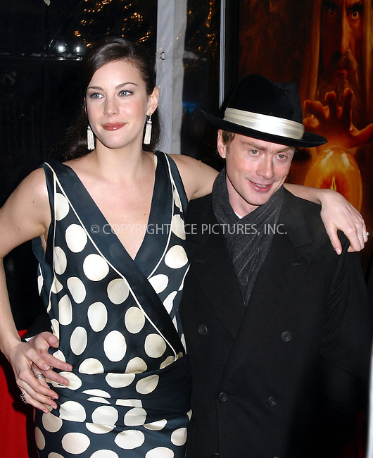 Liv Tyler and boyfirend at the World Premiere of The Lord of the Rings: The Two Towers. New York, December 5, 2002...Please byline: Alecsey Boldeskul/NY Photo Press.   ..*PAY-PER-USE*      ....NY Photo Press:  ..phone (646) 267-6913;   ..e-mail: info@nyphotopress.com
