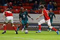 Andre Ayew of Swansea City City (C) in action during the Sky Bet Championship match between Charlton Athletic and Swansea City at The Valley, London, England, UK. Wednesday 02 October 2019