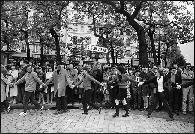The 1968 May Events, on the way to the Charlety Stadium meeting, Place d'Italie, Paris, France, May 27, 1968.