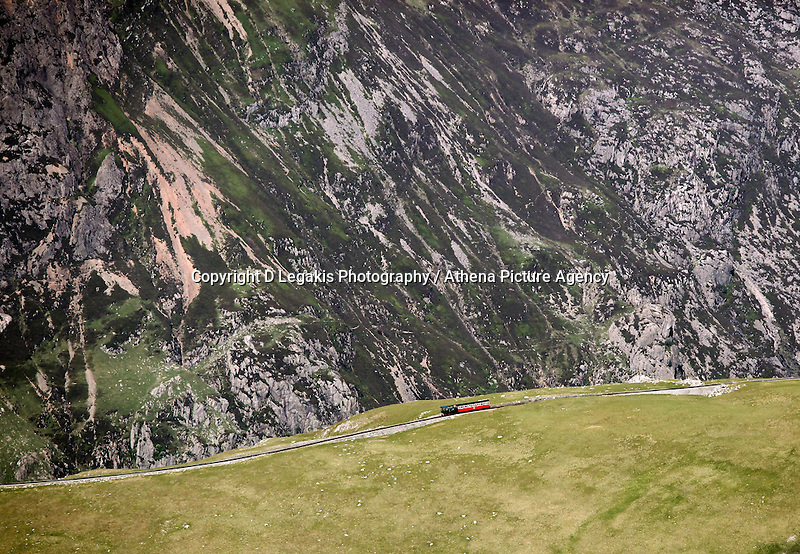 Snowdonia Mountain Railway en route to the top<br /> Re: Aerial view of Wales. Sunday 14 June 2009<br /> Picture by D Legakis Photography / Athena Picture Agency, 24 Belgrave Court, Swansea, SA1 4PY, 07815441513