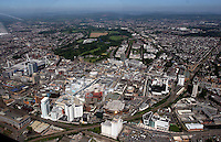 Aerial view of the city of Cardiff