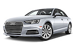 Stock pictures of low aggressive front three quarter view of 2017 Audi A4 Premium 4 Door Sedan Low Aggressive