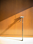 New Britain Museum of Modern Art. Walking cane against wall.