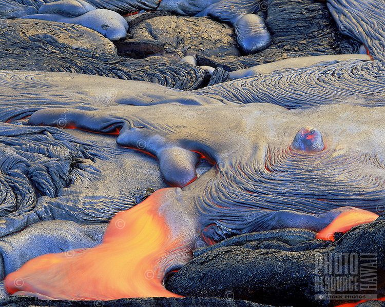 Lava flow from Kilauea Volcano, Big Island of Hawaii