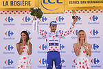 Julian Alaphilippe (FRA) Quick-Step Floors retains the climbers Polka Dot Jersey at the end of Stage 11 of the 2018 Tour de France running 108.5km from Albertville to La Rosiere Espace San Bernardo, France. 18th July 2018. <br /> Picture: ASO/Pauline Ballet | Cyclefile<br /> All photos usage must carry mandatory copyright credit (&copy; Cyclefile | ASO/Pauline Ballet)