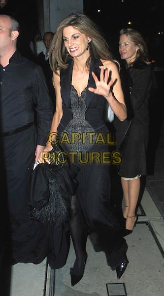 "JEMIMA KHAN.""Fashion Rocks"" party at Babylon, Kensington Roof Gardens.full length, full-length, waving, funny face.www.capitalpictures.com.sales@capitalpictures.com.© Capital Pictures."