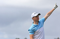 Rory Reid (Greystones) on the 14th tee during the Final round in the Connacht U16 Boys Open 2018 at the Gort Golf Club, Gort, Galway, Ireland on Wednesday 8th August 2018.<br /> Picture: Thos Caffrey / Golffile<br /> <br /> All photo usage must carry mandatory copyright credit (&copy; Golffile | Thos Caffrey)