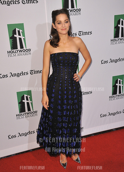 Marion Cotillard at the 16th Annual Hollywood Film Awards at the Beverly Hilton Hotel..October 22, 2012  Beverly Hills, CA.Picture: Paul Smith / Featureflash