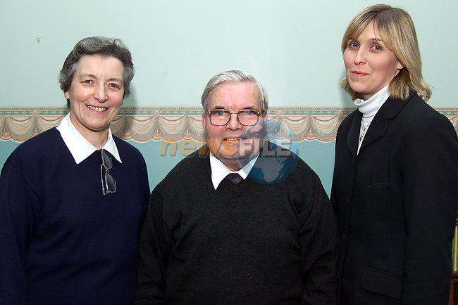 Richard Burke, winner of the £50 prize in the Drogheda & District community chest lottery, pictured with matron Sr Joesephine Flynn and Grainne Dunne, lottery assistant..pic: Newsfile