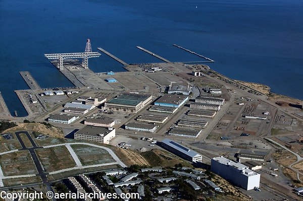 Aerial photograph Hunters Point San Francisco California