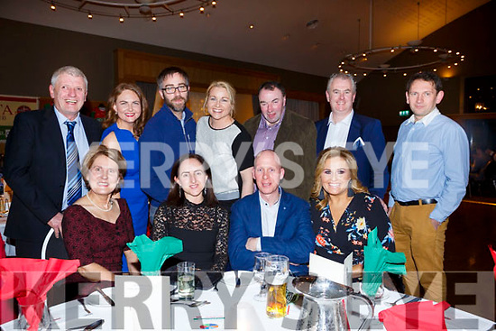 Enjoying the Crotta Social in Ballyroe Hotel on Friday night last, Seated l-r, Maureen Weir (Kilflynn), Catherine Nolan (Kilflynn), Peter McGrath and Geraldine Parker (Kilflynn) Standing l-r, Paddy Weir, Una Houlihan, Paul McGrath, Ann Marie McGrath, John Kelly, Mike Parker Jr and Darren Houlihan.