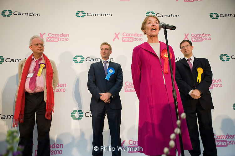 Labour MP Glenda Jackson holds the marginal seat of Hampstead and Kilburn by 42 votes in the 2010 General Election.