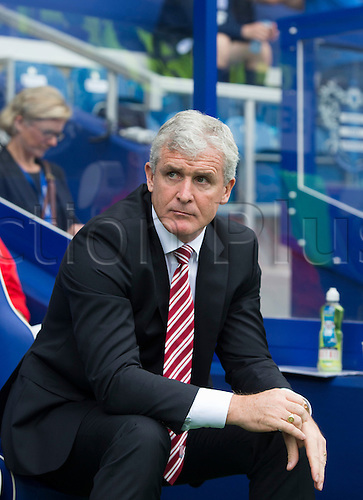 20.09.2014.  London, England. Barclays Premier League. Queens Park Rangers versus Stoke City. A return to Loftus road for ex manager Mark Hughes who is now in charge of Stoke City.