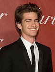 Andrew Garfield, who is the new Spiderman in a movie forecast to hit theaters in 2012, poses for the cameras during the Palm Springs International Film Festival red carpet prior at the Palm Springs Convention Center on Saturday. Garfield presented Carey Mulligan with the Breakthrough Performance Award.