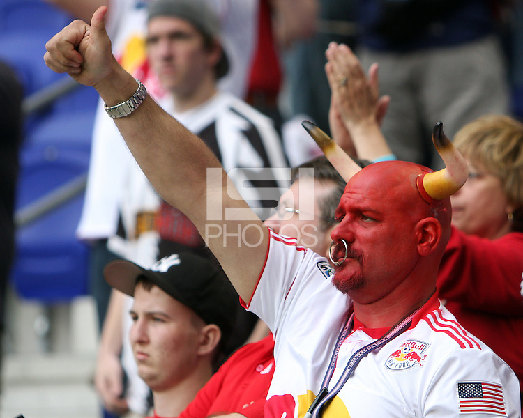Fan of the New York RedBulls during a MLS match against the Philadelphia Union on April 24 2010, at RedBull Arena, in Harrison, New Jersey. RedBulls won 2-1.