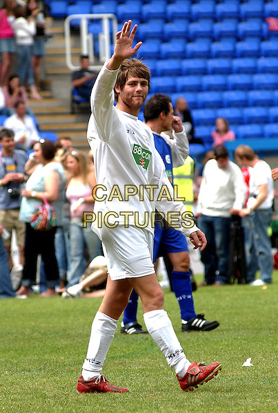 BRIAN McFADDEN<br /> Music industry Soccer Six Tournament, <br /> Madjeski Stadium, Reading, Berkshire,<br /> 23rd May 2004.<br /> full length football pitch playing Bryan<br /> Ref: BEL<br /> www.capitalpictures.com<br /> sales@capitalpictures.com<br /> &copy;Tom Belcher/Capital Pictures