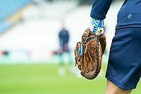 Picture by Allan McKenzie/SWpix.com - 20/04/2018 - Cricket - Specsavers County Championship - Yorkshire County Cricket Club v Nottinghamshire County Cricket Club - Emerald Headingley Stadium, Leeds, England - Glove, Cricket, Baseball.