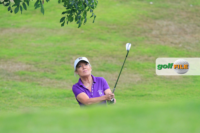 Mary Madigan (Waterford Castle) on the 11th during the Final of the Irish Mixed Foursomes in Warrenpoint Golf Club on Friday 5th September 2014.<br /> Picture:  Thos Caffrey / www.golffile.ie
