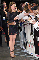 "Rebecca Ferguson<br /> arriving for the ""Mission: Impossible Fallout"" premiere at the BFI IMAX South Bank, London<br /> <br /> ©Ash Knotek  D3414  13/07/2018"