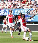 Nederland, Nijmegen, 19 augustus 2012.Eredivisie.Seizoen 2012-2013.N.E.C.-Ajax (1-6).Jody Lukoki van Ajax schiet de 0-1 binnen.