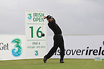 Anders Hansen teeing off on the 16th hole during day two of the 3 Irish Open..Pic Fran Caffrey/golffile.ie