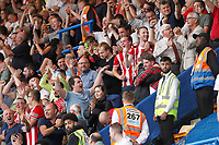 Sheffield United fans are delighted with the draw during the Premier League match between Chelsea and Sheff United at Stamford Bridge, London, England on 31 August 2019. Photo by Carlton Myrie / PRiME Media Images.