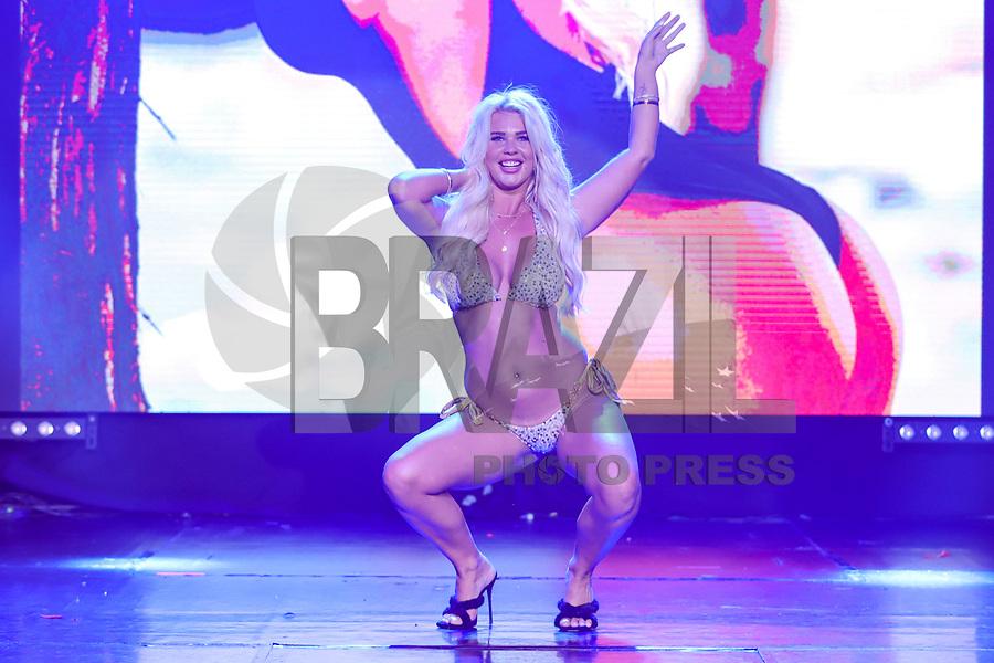 CIDADE DO MÉXICO, MÉXICO, 30.09.2019 - MISS-BUMBUM - Jessica Jensen durante a final do concurso Miss Bumbum World na  ForoTotal Play na Cidade do México na capital mexicana nesta segunda-feira, 30.  (Foto: William Volcov/Brazil Photo Press)